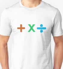 Coloured + X and Divide Unisex T-Shirt