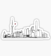 Shanghai skyline Sticker
