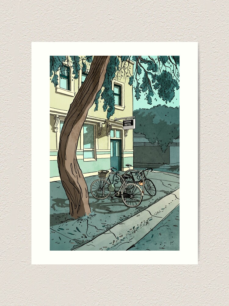 Alternate view of bicycles at the Hotel Art Print