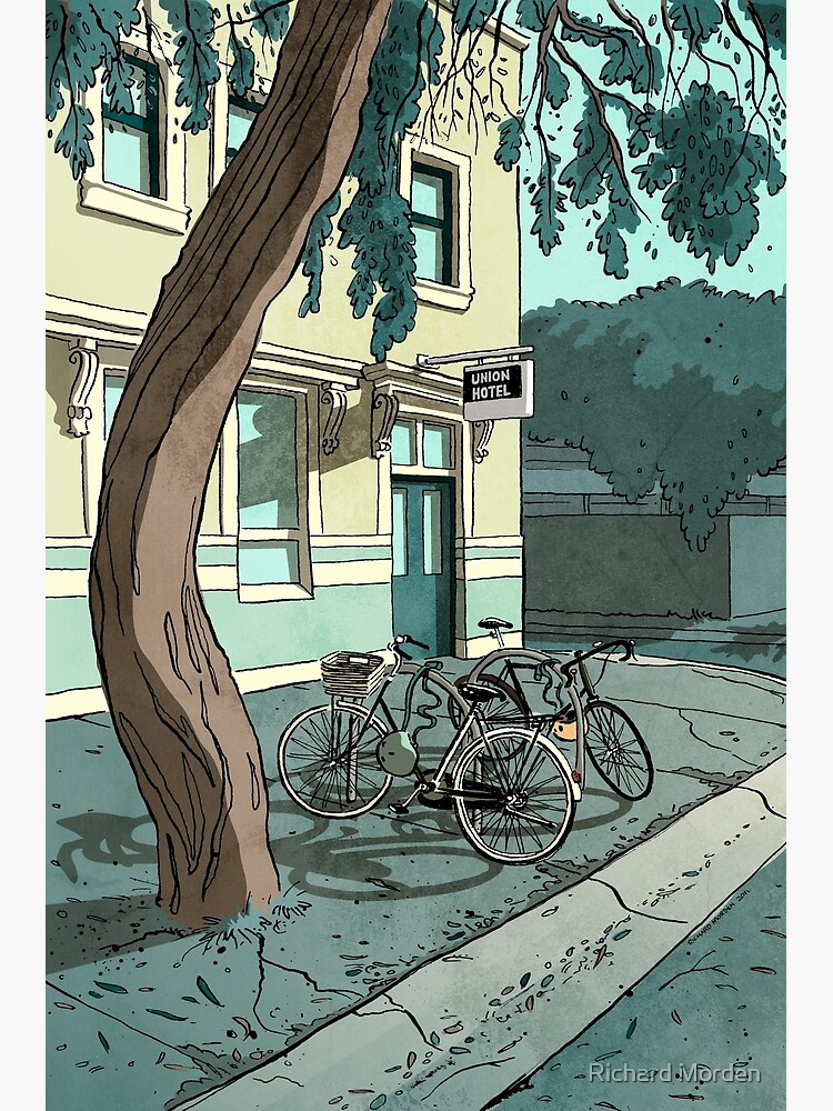 bicycles at the Hotel by morden
