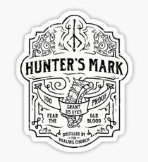 Hunter's Mark Whiskey - Bloodborne Sticker