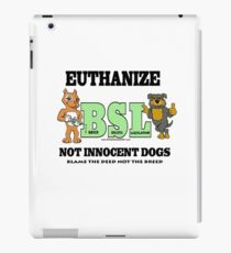 EUTHANIZE BREED SPECIFIC LEGISLATION iPad Case/Skin
