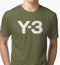 black Y3 Tri-blend T-Shirt