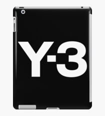 black Y3 iPad Case/Skin