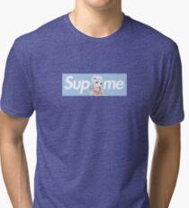 Eromanga Sensei Sagiri x Sup Me Parody Box Logo Blue Tri-blend T-Shirt