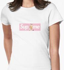 Kemono Friends Serval x Sup Me Parody Box Logo Pink Women's Fitted T-Shirt