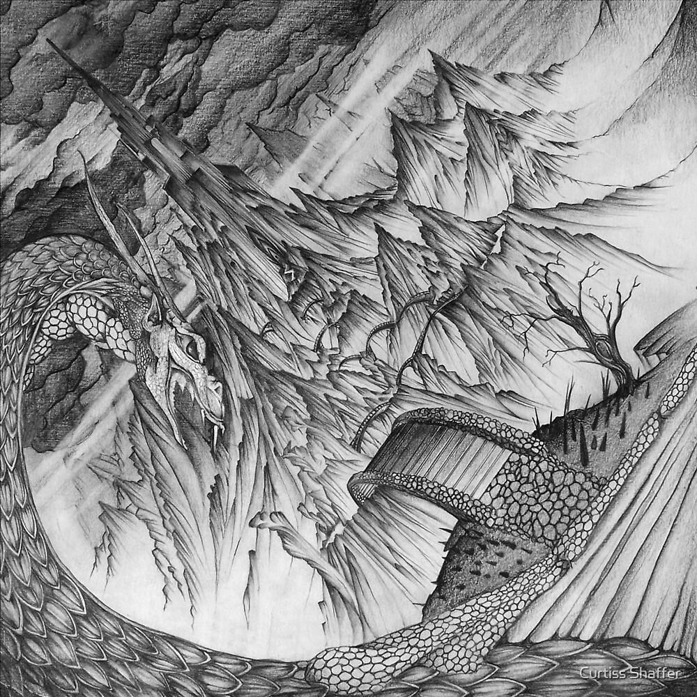 Ancalagon at Thangorodrim by Curtiss Shaffer
