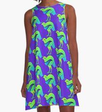Emerald Quail A-Line Dress
