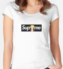 Boruto x Sup Me Parody Box Logo Women's Fitted Scoop T-Shirt