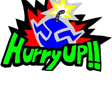 Wario Hurry Up Logo by B3RS3RK3R