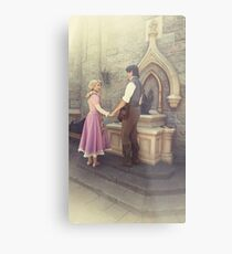 Rapunzel and Eugene at Disneyland Metal Print
