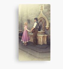 Rapunzel and Eugene at Disneyland Canvas Print