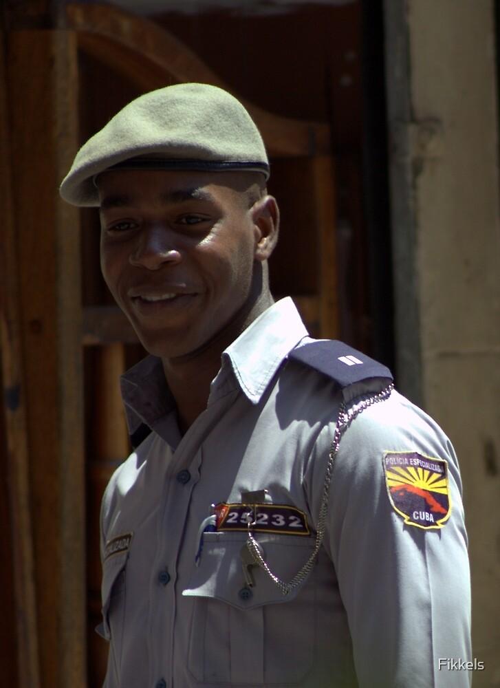 Cuban cop, Havana by Fikkels