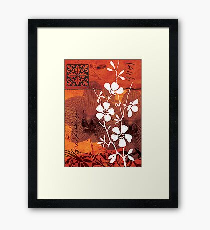 red 01 Framed Print
