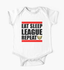 Eat Sleep League Repeat Short Sleeve Baby One-Piece