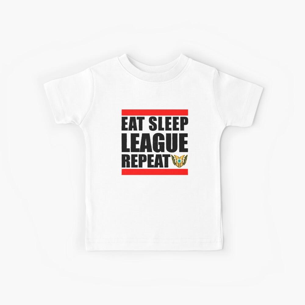 Eat Sleep League Repeat Kids T-Shirt