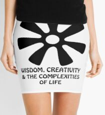 Adinkra Designs: Wisdom, Creativity & the Complexities of Life Mini Skirt