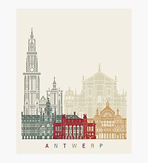 Antwerp skyline poster Photographic Print