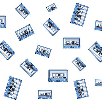MUSIC CASSETTE TAPES PATTERN by GayRiot