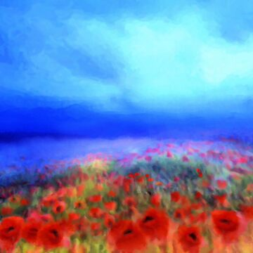 Poppies in the mist  by valzart