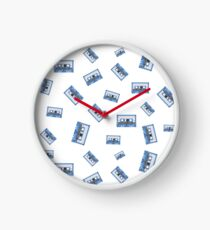 MUSIC CASSETTE TAPES PATTERN Clock