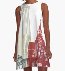 Georgetown skyline poster A-Line Dress