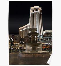 Night Glow at the Venetian Las Vegas Poster