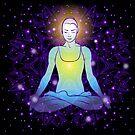 beautiful woman doing yoga meditation by OlgaBerlet