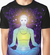beautiful woman doing yoga meditation Graphic T-Shirt