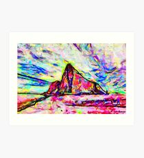 A Psychedelic Rock of Gibraltar Art Print