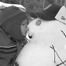 Fast Friends (black & white) by Martine