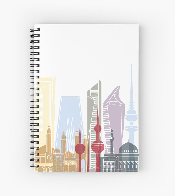 Kuwait-Stadt-Skylineplakat von paulrommer