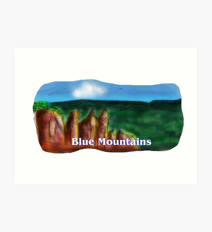 The Blue Mountains Art Print