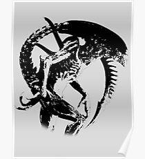 Alien Black & White Poster