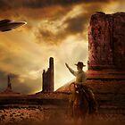 Cowboy & UFO by Cliff Vestergaard