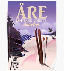 Åre Sweden ski travel poster Poster