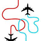 Airplane Travel Pattern by red-rawlo