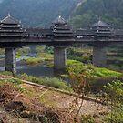 Dong Village Wooden Bridge by Mark Williamson