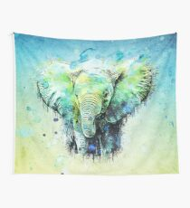 watercolor elephant Wandbehang