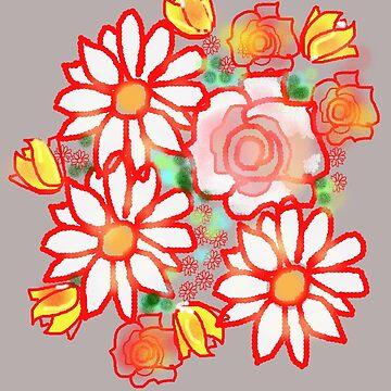 BONNY FLOWERS /RED by Shoshonan
