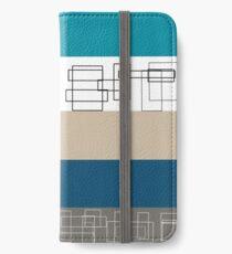Blue Stripe iPhone Wallet/Case/Skin