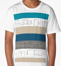 Blue Stripe Long T-Shirt