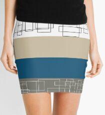 Blue Stripe Mini Skirt