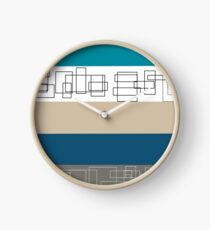 Blue Stripe Clock