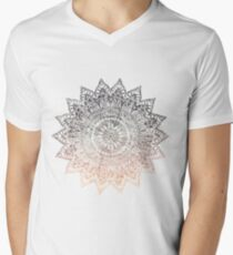 Camiseta para hombre de cuello en v BOHEMIAN HYGGE MANDALA