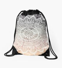 BOHEMIAN HYGGE MANDALA Drawstring Bag