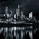 City Reflecting off the River by Ewan Arnolda