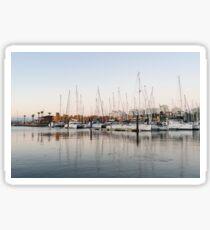 Feeding Fish - Early Morning Marina at Portimao Portugal Sticker