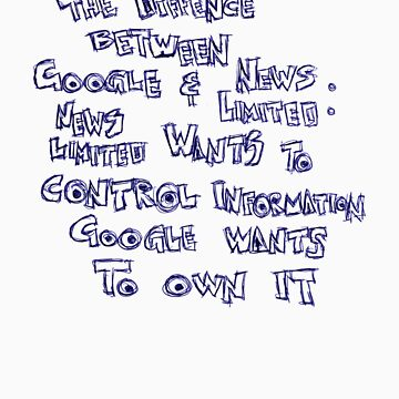 The Difference Between Google and News Limited by PolaroidGhost
