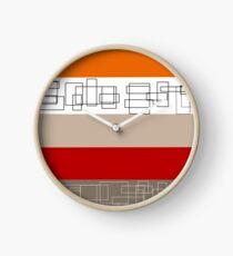 Red Stripe Clock